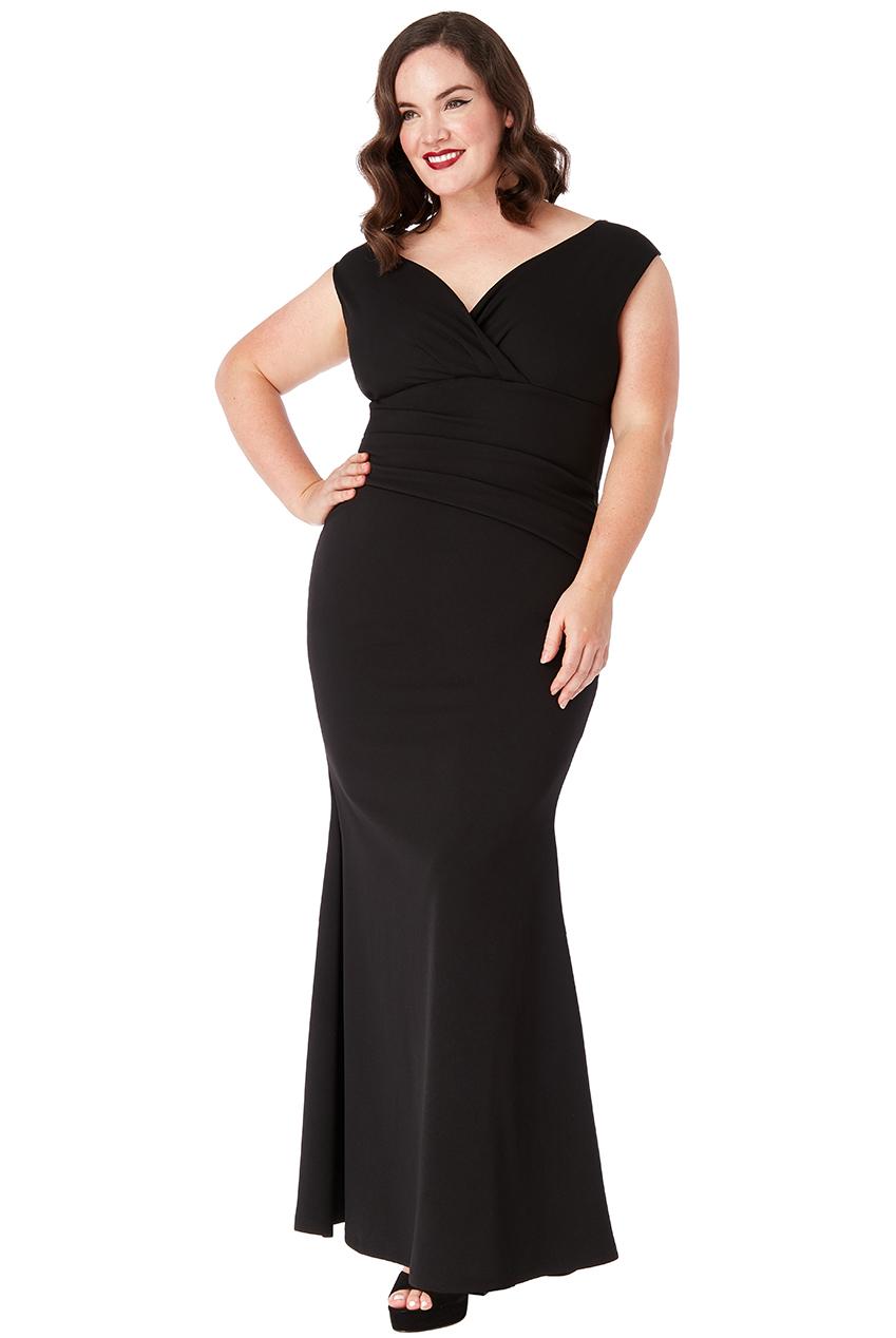 b66877d1659 Černé dlouhé šaty bez rukávů City Goddess Melanie City Goddess ...