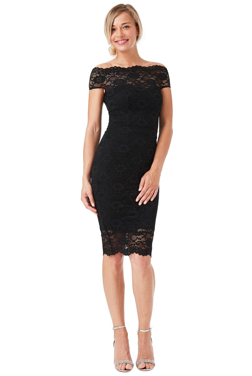 Černé krajkové šaty City Goddess Ornella City Goddess  941f8ea5c22