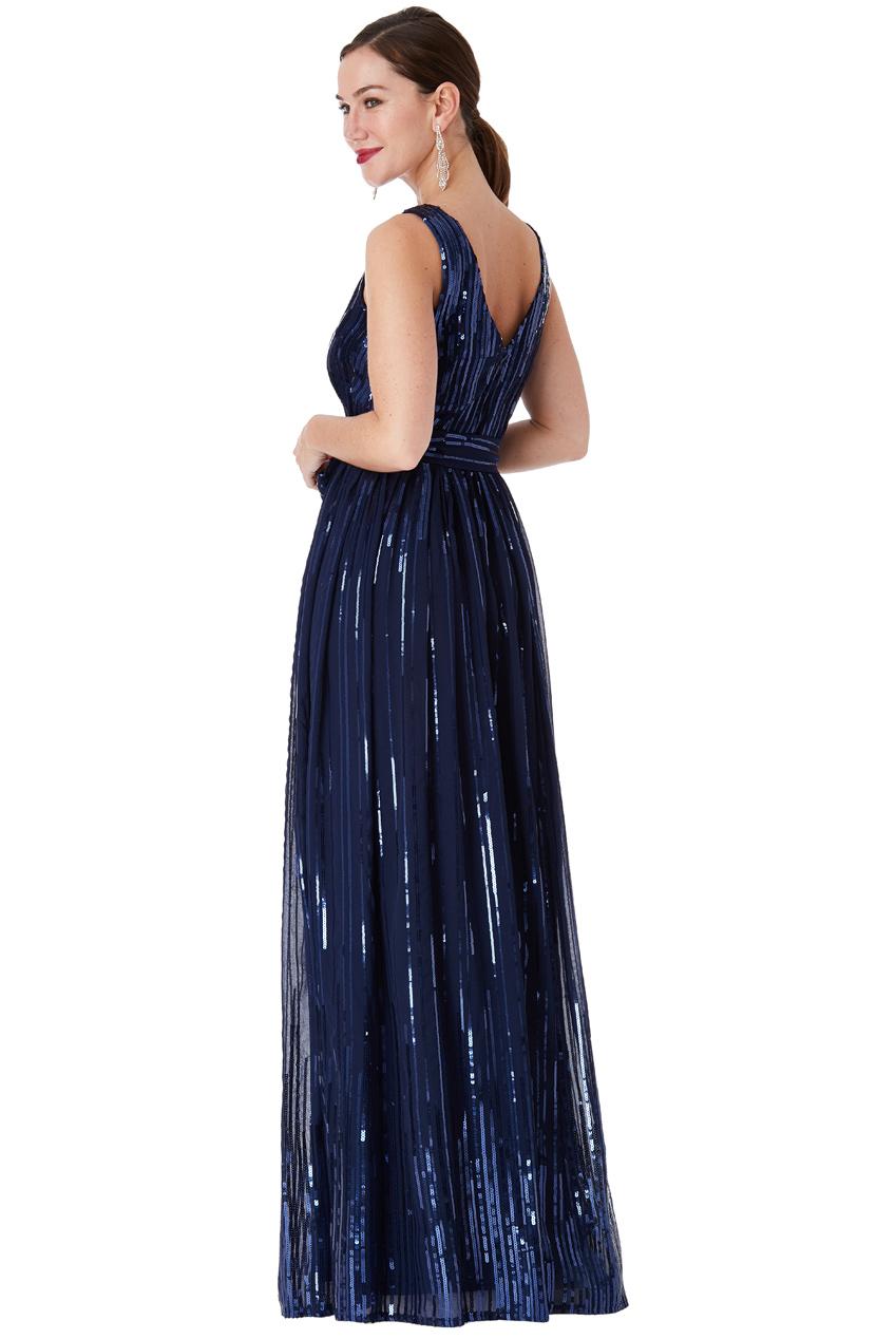 Modré společenské šaty s flitry City Goddess Afrodita City Goddess ... 4c27b5aa37
