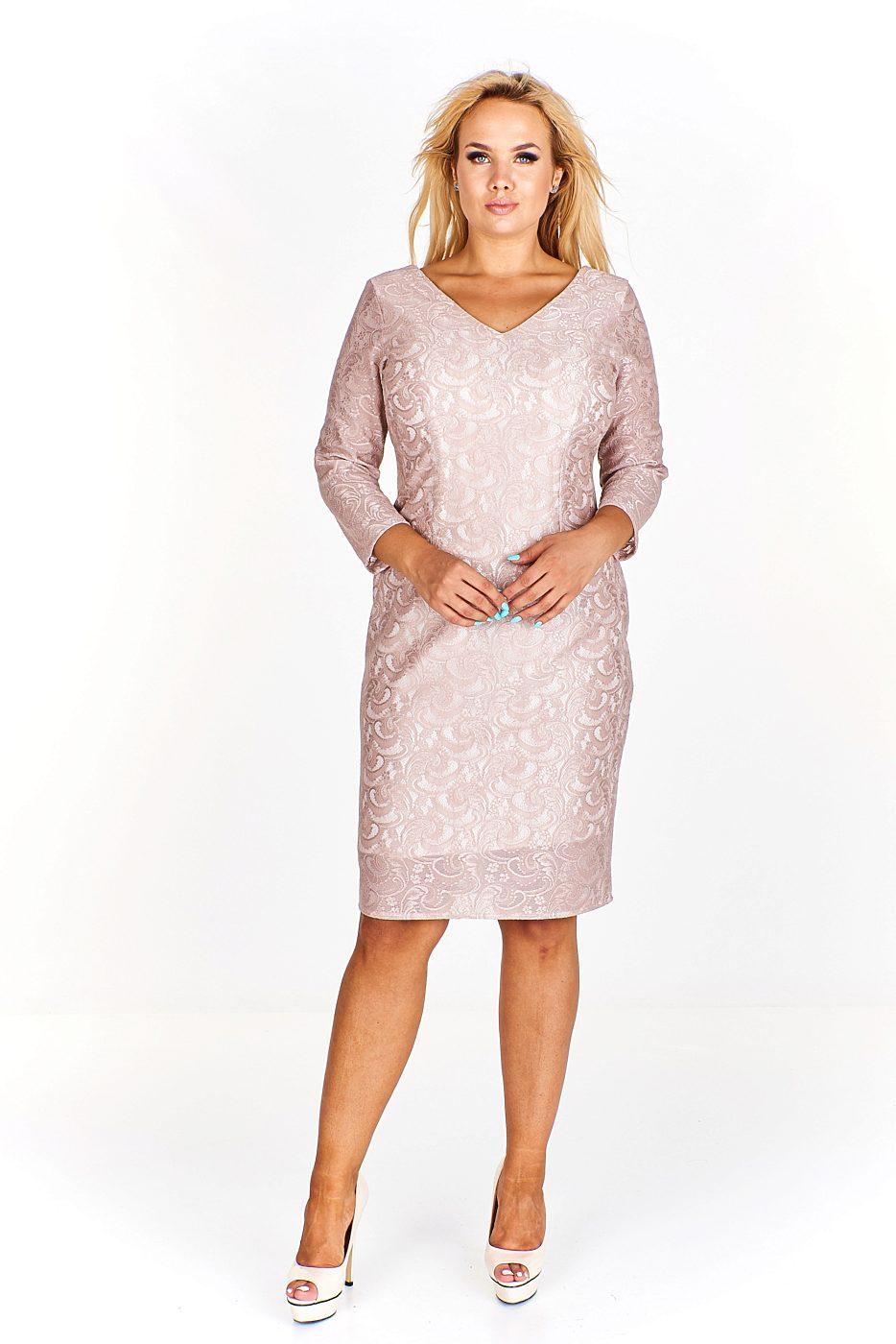 cde6049ff92 Pouzdrové béžové šaty Exclusive Svea Exclusive