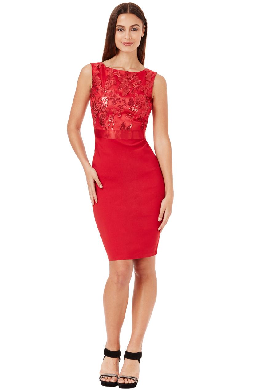 Pouzdrové společenské šaty City Goddess Star červené 387098aeaf