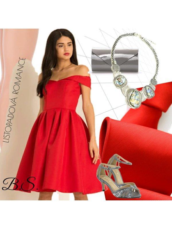 Společenské šaty Chi Chi London Jadei červené Chi Chi London ... cc874b67b0