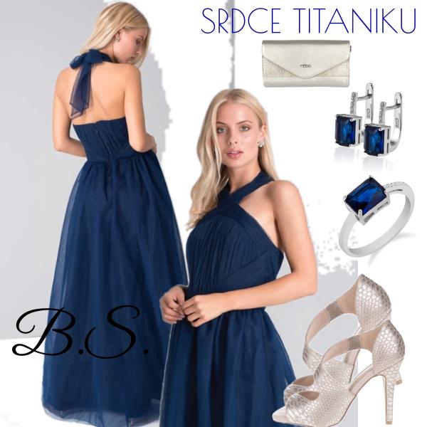 Společenské šaty Chi Chi London Roberta tmavě modré Chi Chi London ... 4ad675e351