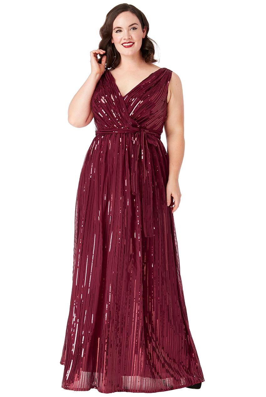 e1abe08de3ea Vínové společenské šaty s flitry City Goddess Afrodita City Goddess ...