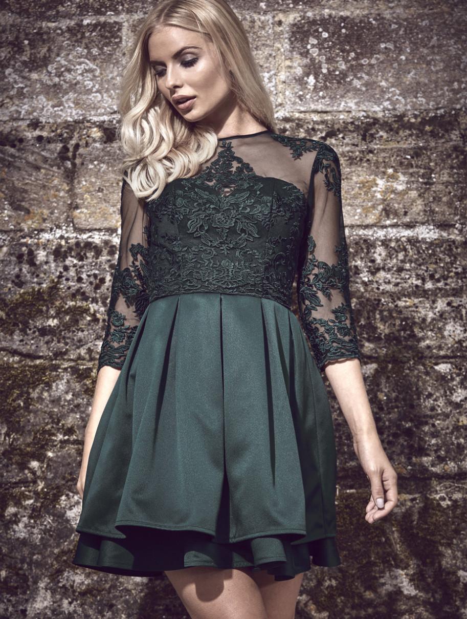 Zelené společenské šaty Chi Chi London Kelly Chi Chi London  c971eb6b64