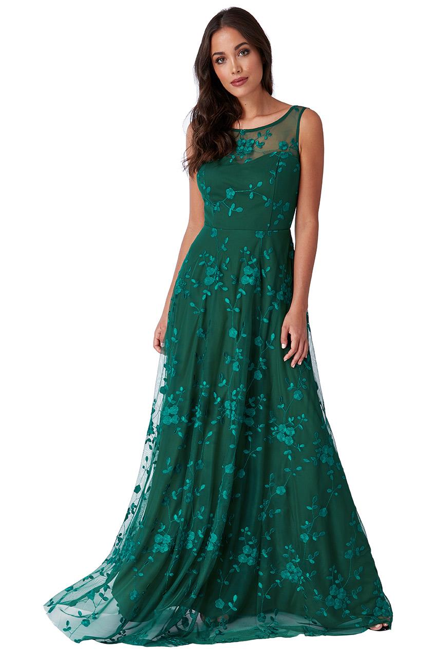 Zelené společenské šaty City Goddess Camel City Goddess  5245f3dfc3