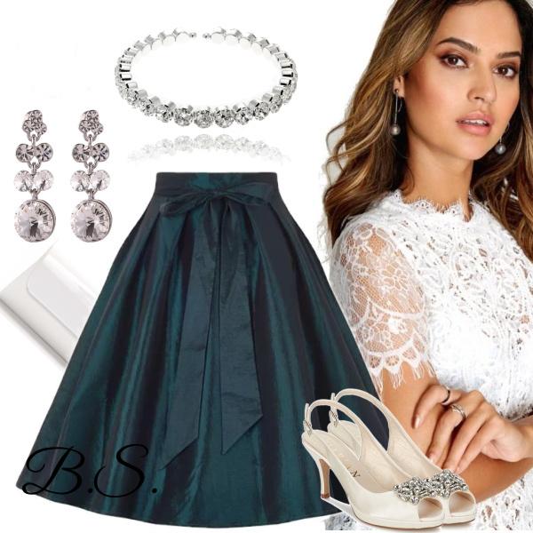 Společenská zelená sukně Collectif Aida Collectif Retro oblečení ... b75a5348b4