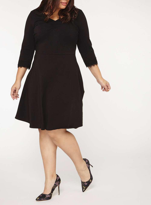 ee57b67d15ed Těhotenské černé šaty Dorothy Perkins Freya Dorothy Perkins