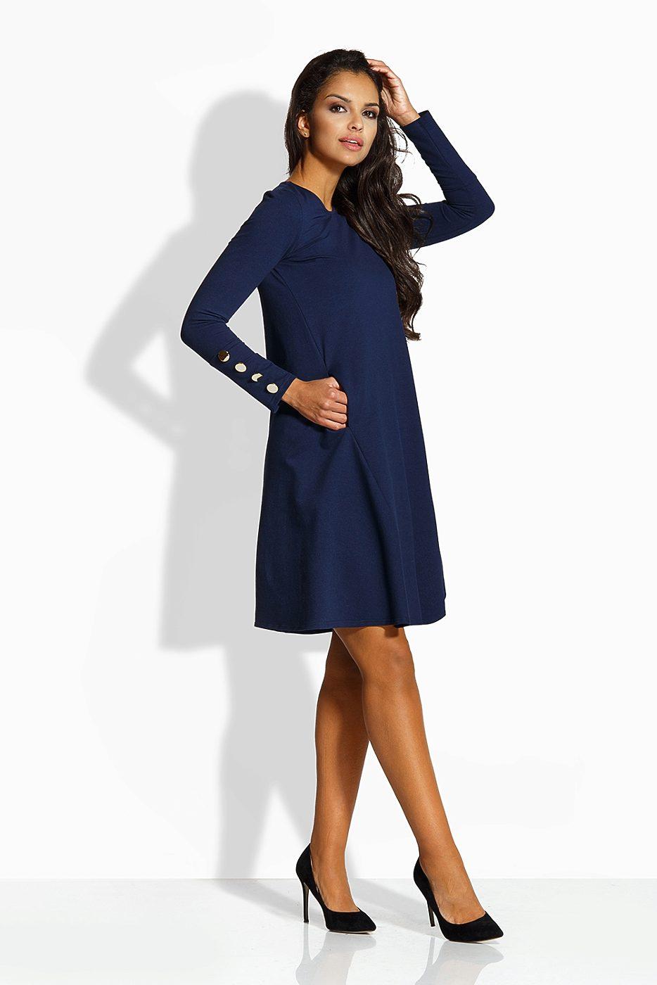 Tmavě modré šaty s tříčtvrtečním rukávem Lemoniade Amalia Lemoniade ... fbd017ae460