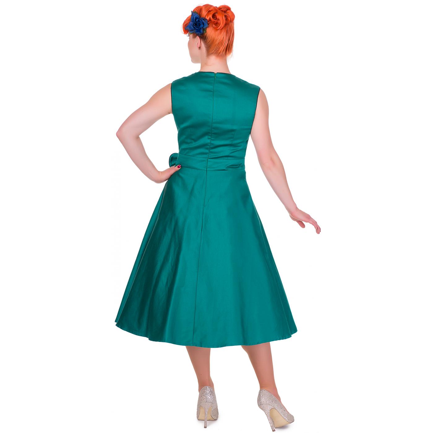 9647d4effc2c Tyrkysové šaty s černým lemem Dolly nad Dotty Harriet Dolly and ...