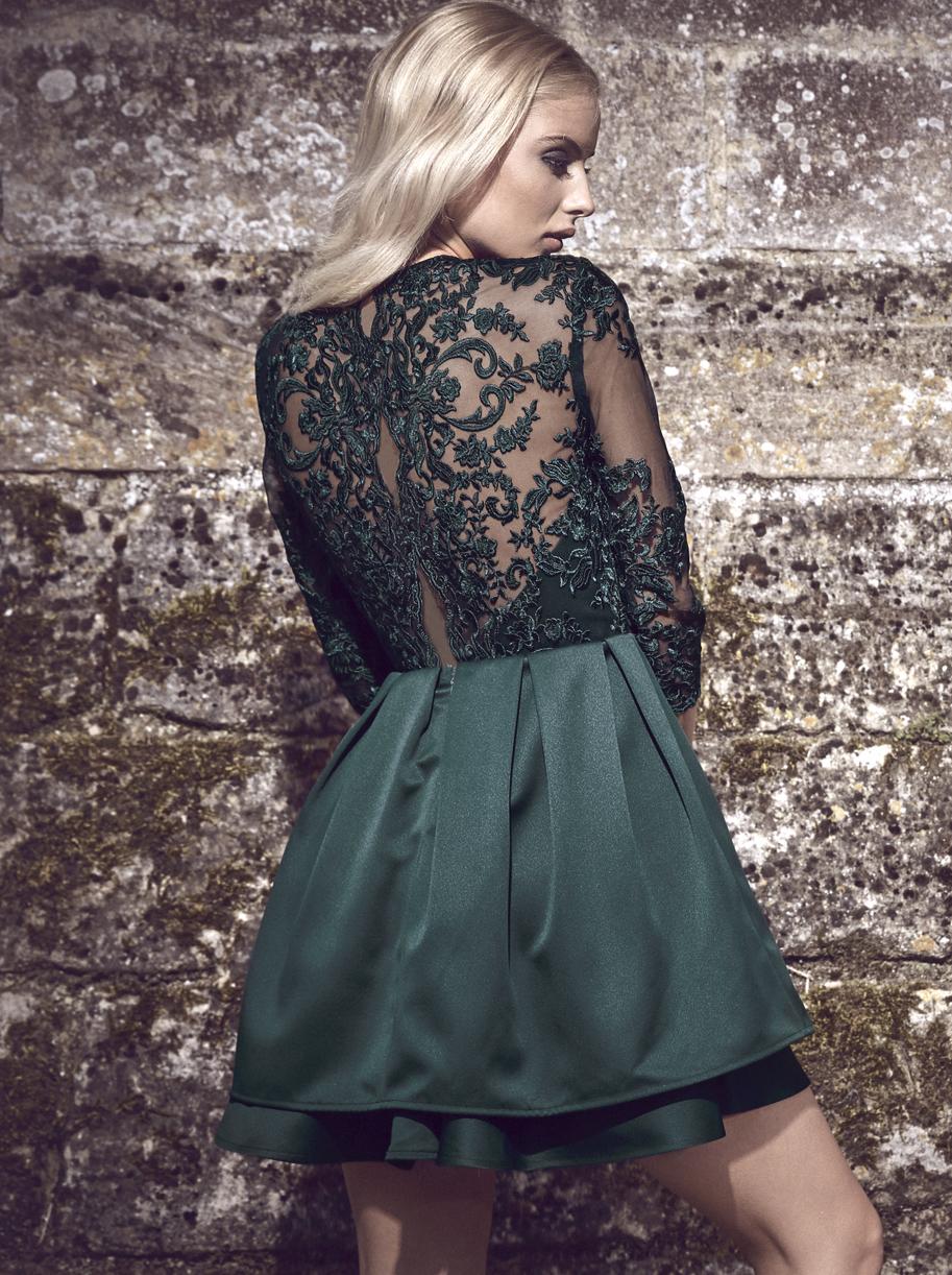 Zelené společenské šaty Chi Chi London Kelly Chi Chi London  b0e39cef3f8