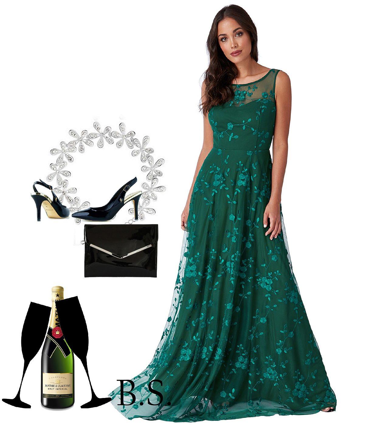 Zelené společenské šaty City Goddess Camel City Goddess  c235bd5f29a