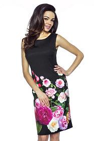 62a1fd9561d Květované šaty se spodničkou Kartes Trinity. 40  44. 1 790 Kč. Černé  pouzdrové šaty S květy Kartes Edita