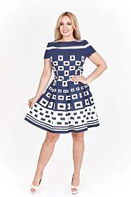Tmavě modré šaty s bílými vzory Filloo Filly c9ddd5cae2