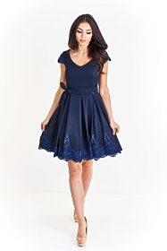 Tmavě modré šaty s krajkou Bosca Fashion Oksana 0407b80090