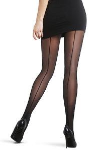 9fd60a875663 Černé punčochové kalhoty se zadním švem Penti Nostalji