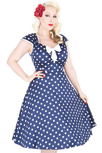 Lady V London Isabella Navy Polka