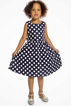 e029932d36bd -25% Tmavě modré šaty s puntíky Lindy Bop Mini Audrey