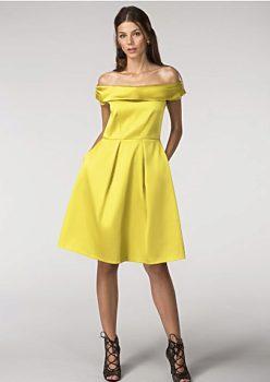f4df928368c Hořčicové společenské šaty Closet Diana