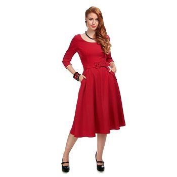 -50% Červené šaty Collectif Ivy adf36c6eb7