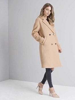 e9d88d205eb -15% Zimní kabát Chi Chi London Neva velbloudí hnědá