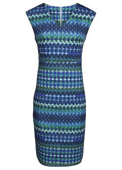 -5% Modro zelené pouzdrové šaty Smashed Lemon Torkia 0ea3404e51