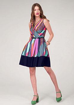 Barevné šaty s pruhy Closet Dezire 8b8d103c56