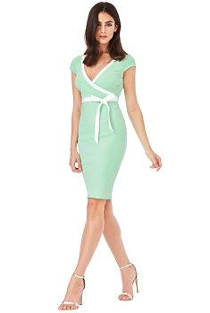 24823dcd9c2 Mentolové pouzdrové šaty City Goddess Lydia