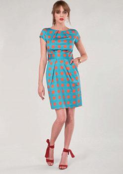 Modro oranžové pouzdrové šaty se vzorem Closet Dira 558c3d9e47