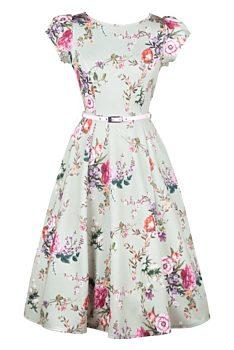 2f2c3baf9651 Novinka Olivové šaty s drobnými květy Lady V London Susie