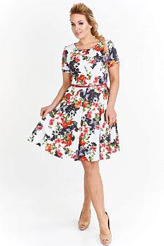 cfd23fd8d36e Novinka Šaty s barevnými květy Milano Moda Gerdine