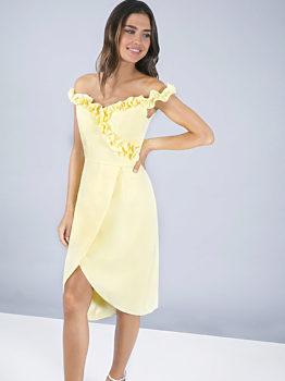 Žluté pouzdrové šaty Chi Chi London Brianna b19d9c3919
