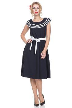 0af987363c1 Modré námořnické šaty Voodoo Vixen Hope