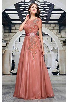 349a053f86a Dlouhé plesové starorůžové šaty Graziella