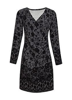 -5% Černé šaty s imitací krajky Smashed Lemon Camien 8852b669ed