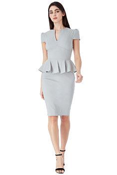 Šedé pouzdrové šaty City Goddess Michelle 4b45d457e6