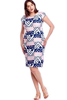 93f6b1690dd5 Novinka Vzorované pouzdrové šaty M M Luise
