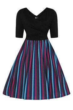 Novinka Šaty s pruhovanou sukní Lady V London Leny f66c3e6893
