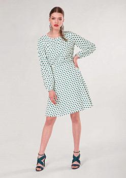 Barevné šaty s úzkou sukní Closet Deja. 36. 1 790 Kč. Bílé šaty se zelenými  hvězdami Closet Erna bd78074799