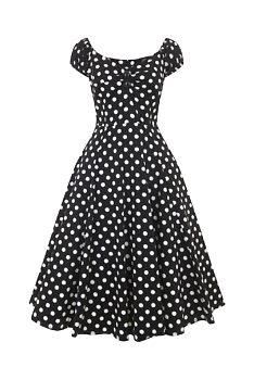 Černé šaty s puntíky a sukní Collectif Dolores c8e8477869