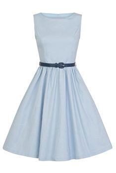 0074509e76b9 Světle modré šaty Lindy Bop Audrey