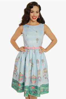 6644289eaf0d Světle modré šaty s balóny Lindy Bop Audrey