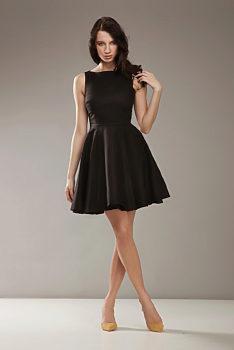 8ae73b655df -30% Černé šaty s kolovou sukní Nife Merci