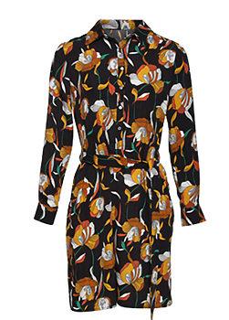 -5% Košilové černé šaty s květy Smashed Lemon Kazia 4647831377