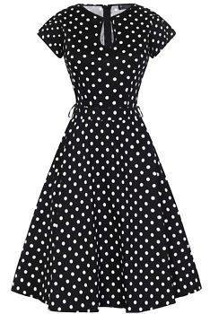 Černé šaty s bílými puntíky Lady V London Hole 43d88d36e9