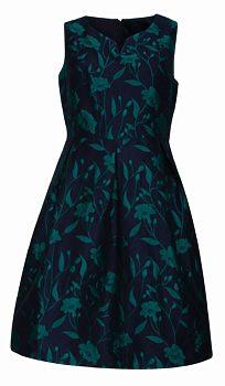 Tmavě modré šaty s tyrkysovými květy Smashed Lemon Uma 24773cb392