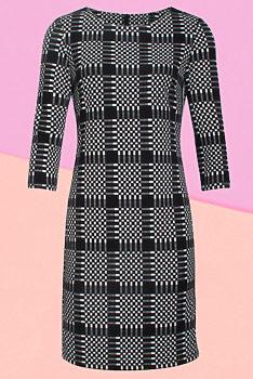 cc5119fbc7d8 Černobílé pouzdrové šaty Smashed Lemon Joona