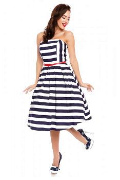 fec9a1e3e058 Modrobílé pruhované šaty Dolly and Dotty Lucille