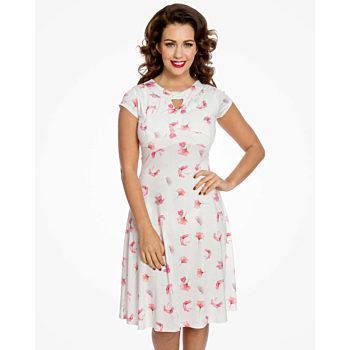 -50% Světle růžové šaty s máky Lindy Bop Juliet 7da5fdb1f6