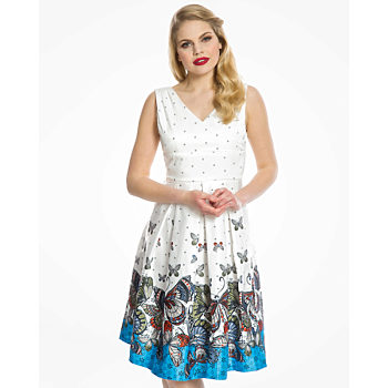 Šaty s výstřihem Lindy Bop velikost 38  ebae640430
